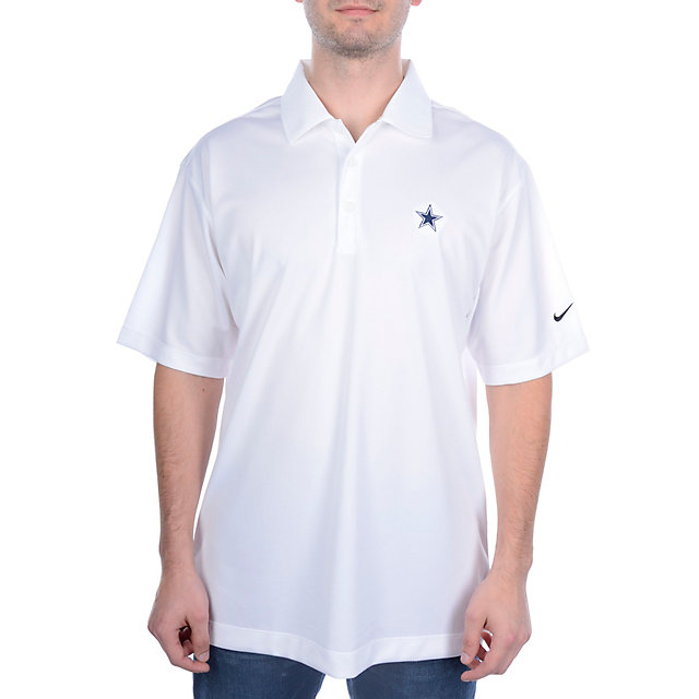 Dallas Cowboys Nike Golf UV Stretch Tech Polo White