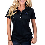 Dallas Cowboys Nike Golf Womens Tech Pique Polo Black