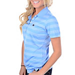 Dallas Cowboys Nike Golf Womens Tech Stripe Polo Light Blue