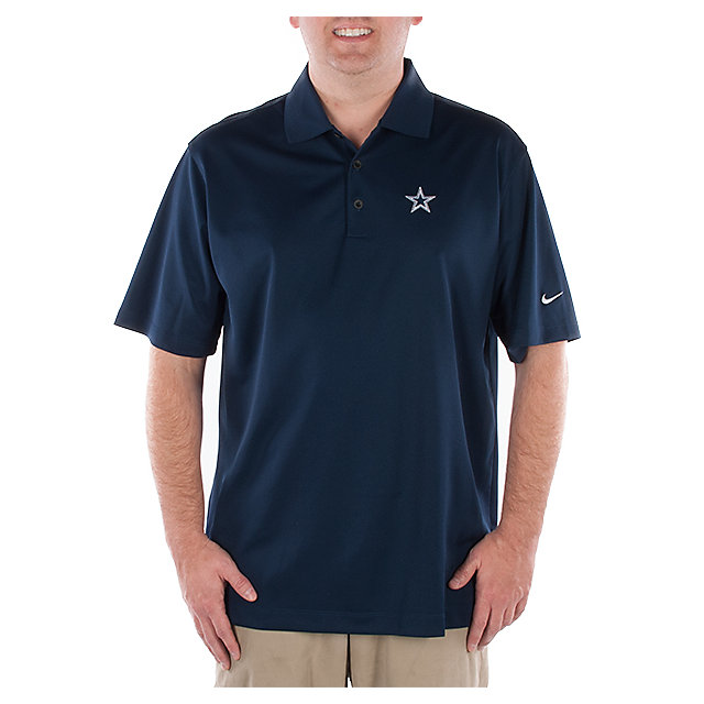 Dallas Cowboys Nike Golf Stretch UV Tech Polo Navy