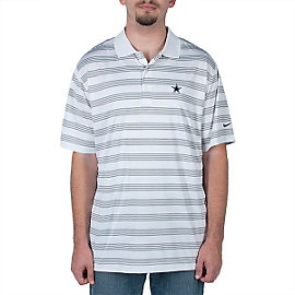 Dallas Cowboys Nike Golf Tech Core Stripe Polo - White/Black