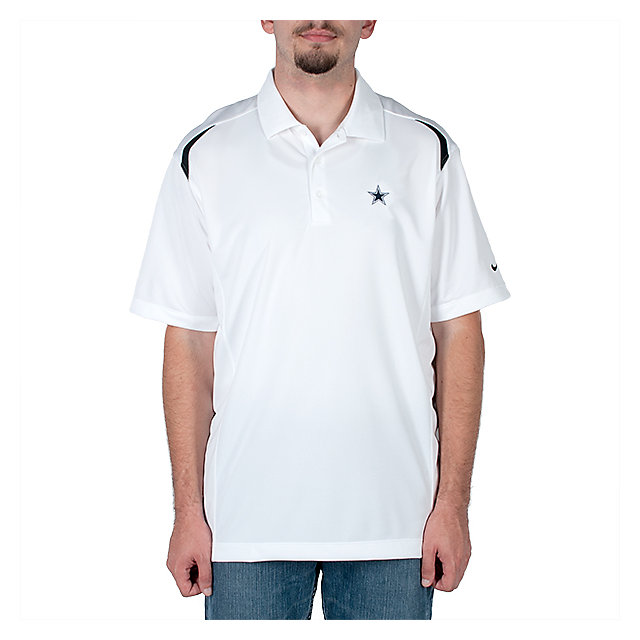 Dallas Cowboys Nike Golf Tech Core Color Block Polo - White