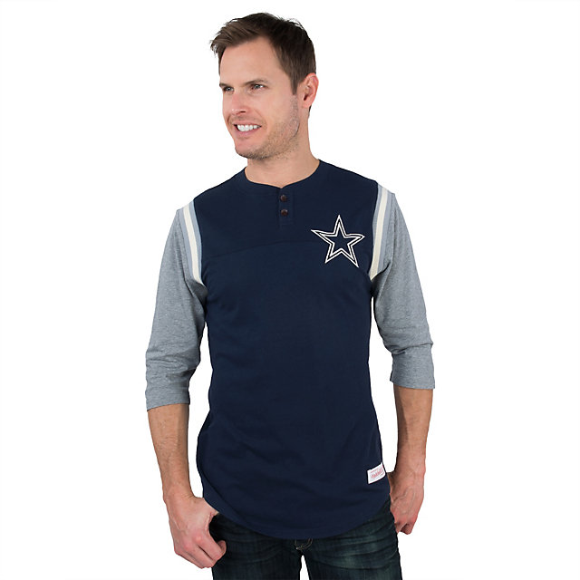 Dallas Cowboys Mitchell & Ness Rushing Play Henley Tee