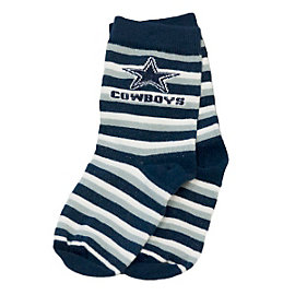 Dallas Cowboys Sports Stripe Toddler Socks