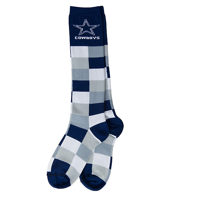 Dallas Cowboys Color Blocks Knee High Socks