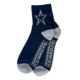 Dallas Cowboys Mens Hash Mark Slipper Socks