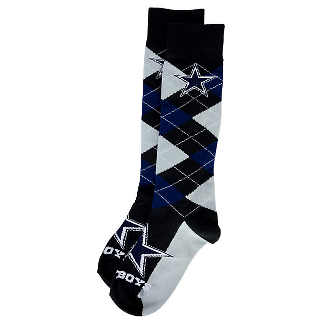 Dallas Cowboys Big Horizontal Argyle Socks