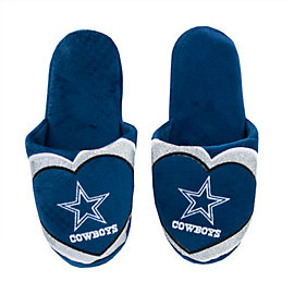 Dallas Cowboys Women's Glitter Slide Slipper