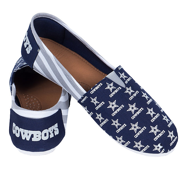 Dallas Cowboys Women's Canvas Stripe Shoes