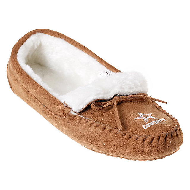 Dallas Cowboys Womens Moccasin Slipper