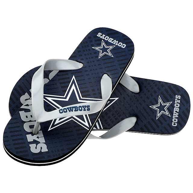 Dallas Cowboys Youth Double Logo Flip Flops