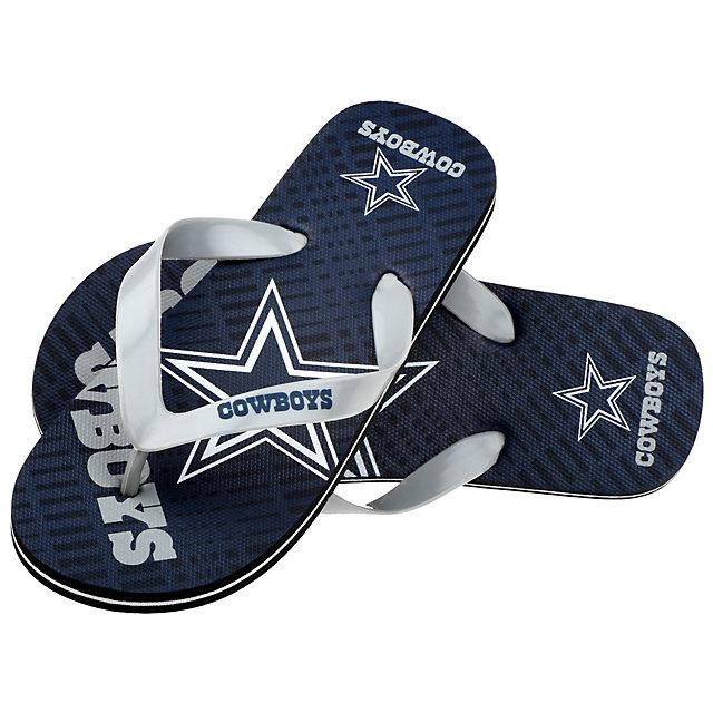 Dallas Cowboys Youth Double Logo Flip Flops