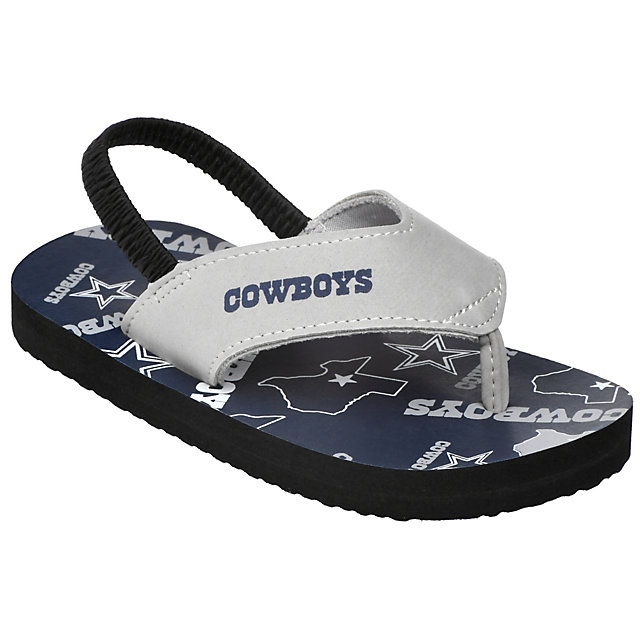 Dallas Cowboys Youth Multi Logo Flop Flops