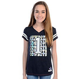 Dallas Cowboys Justice Repeat Front Tee