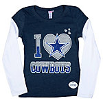 Dallas Cowboys Justice I Heart 2Fer Long Sleeve T-Shirt