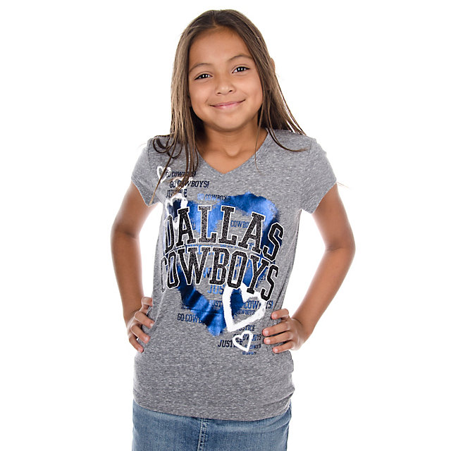 Dallas Cowboys Justice Heart V-Neck Tee