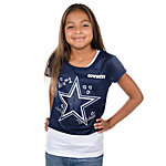 Dallas Cowboys Justice Crop Tee