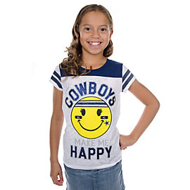Dallas Cowboys Justice Happy Face Tee