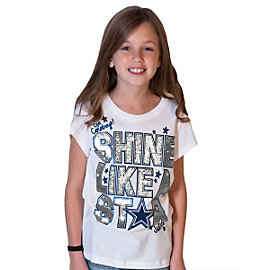 Dallas Cowboys Justice Short Sleeve Shine Tee