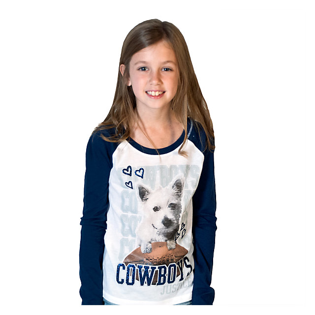 Dallas Cowboys Justice Long Sleeve Puppy Tee