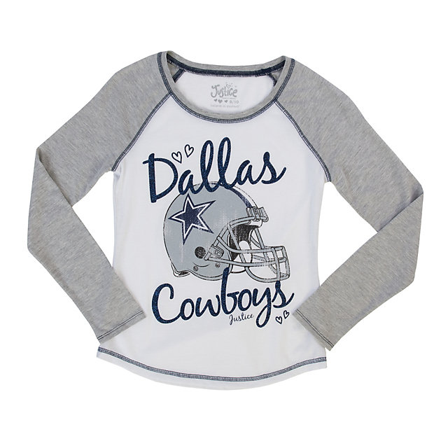 Dallas Cowboys Justice Helmet Baseball Tee