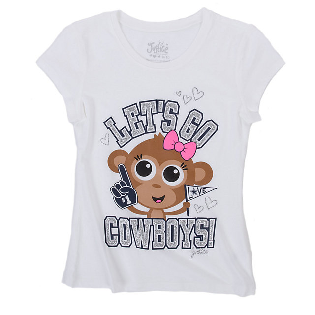 Dallas Cowboys Justice Monkey Short Sleeve Tee