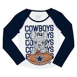 Dallas Cowboys Justice Dog Raglan Tee
