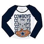 Dallas Cowboys Justice Dog Raglan Tee