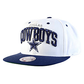 Dallas Cowboys Mitchell & Ness White Arch Cap
