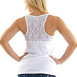 Dallas Cowboys PINK Race Back Lace Tank