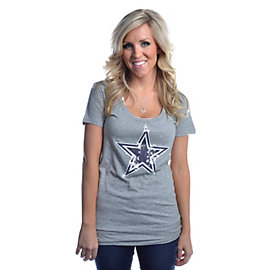 Dallas Cowboys PINK Bling Scoop Neck T-Shirt