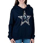 Dallas Cowboys PINK Dropped Shoulder Hoodie