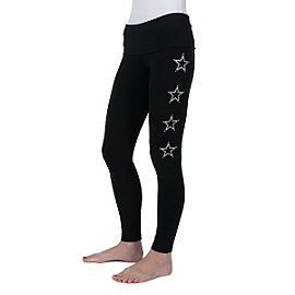 Dallas Cowboys PINK Yoga Legging - Black