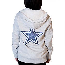 Dallas Cowboys PINK Full Zip Fur Hoodie