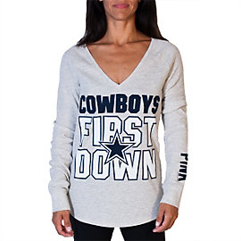 Dallas Cowboys PINK First Down Long Sleeve Thermal