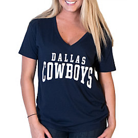 Dallas Cowboys PINK Boyfriend V-Neck Tee