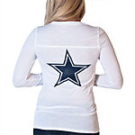 Dallas Cowboys PINK Long Sleeve Meet Me Crew Neck Tee