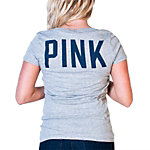 Dallas Cowboys PINK Lets Go V-Neck Tee