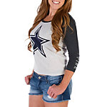 Dallas Cowboys PINK Long Sleeve Shrunken Tee