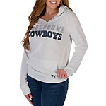 Dallas Cowboys PINK Raw Neck Hoodie