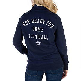 Dallas Cowboys PINK Half Zip Top