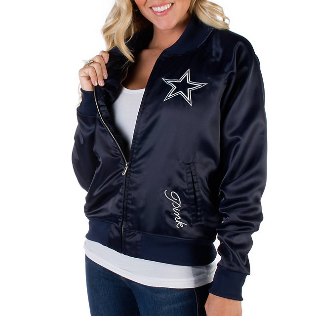 Dallas Cowboys PINK Satin Bomber Jacket
