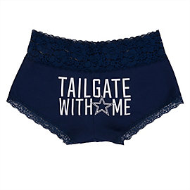 Dallas Cowboys PINK Tailgate With Me Lace Boyshort