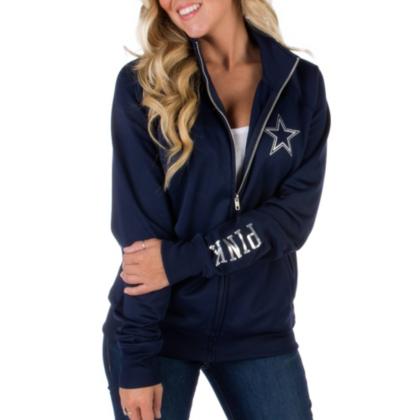 Dallas Cowboys PINK Track Jacket | Dallas Cowboys Pro Shop
