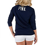 Dallas Cowboys PINK 3/4 V-Neck Tee