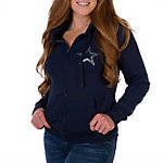 Dallas Cowboys PINK Full Zip Hoodie