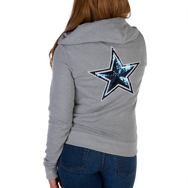 Dallas Cowboys PINK Bling Full Zip Hoodie