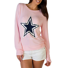 Dallas Cowboys Peace Love World Pastel Pink Crew