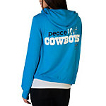 Dallas Cowboys Peace Love World Bright Blue Hoodie