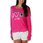 Dallas Cowboys Peace Love World Bright Pink Crew